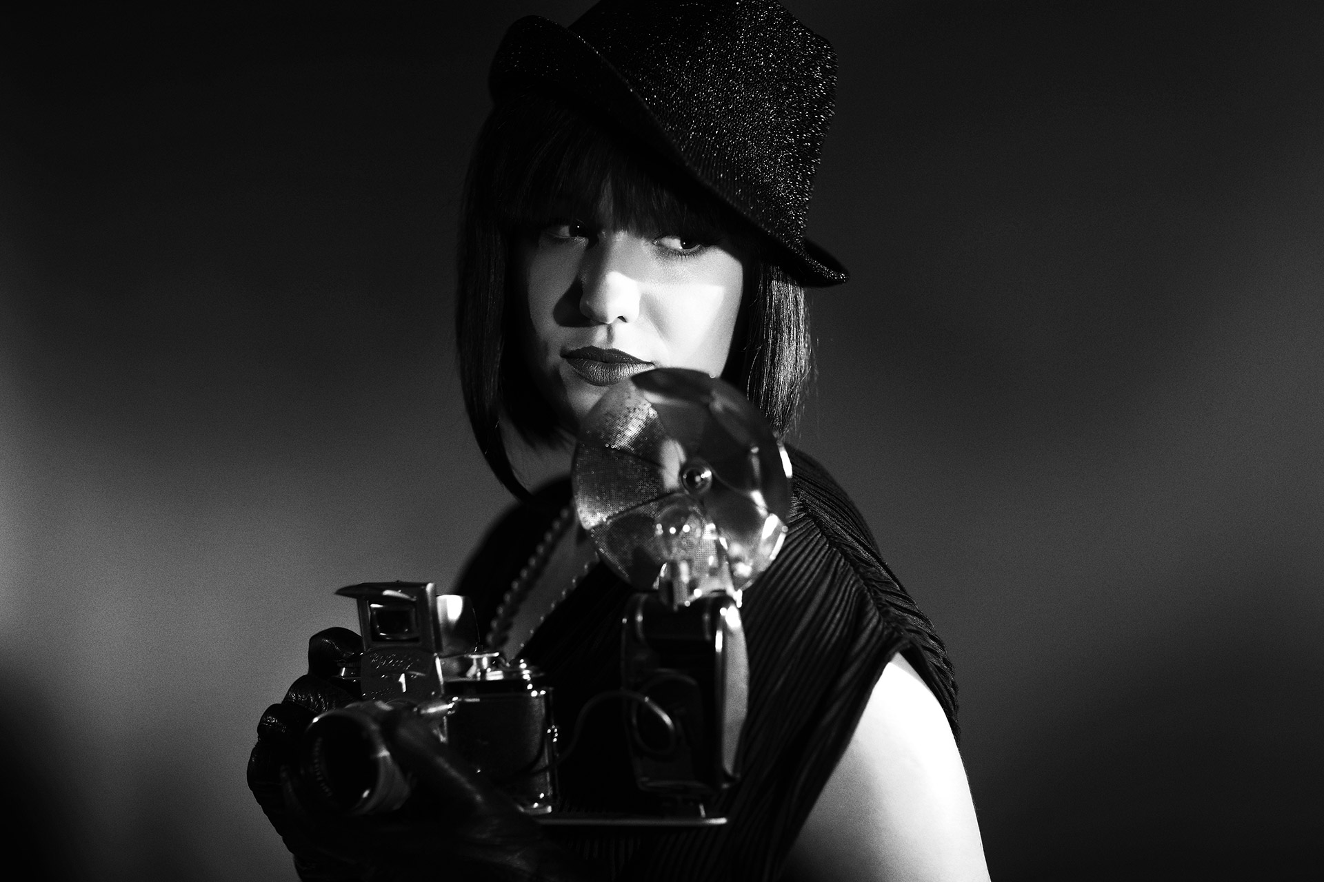 Old Hollywood style shooting